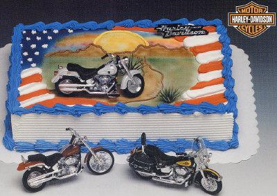 Cake Decorating: Harley Davidson Motorcycles Cake Decorating Kit